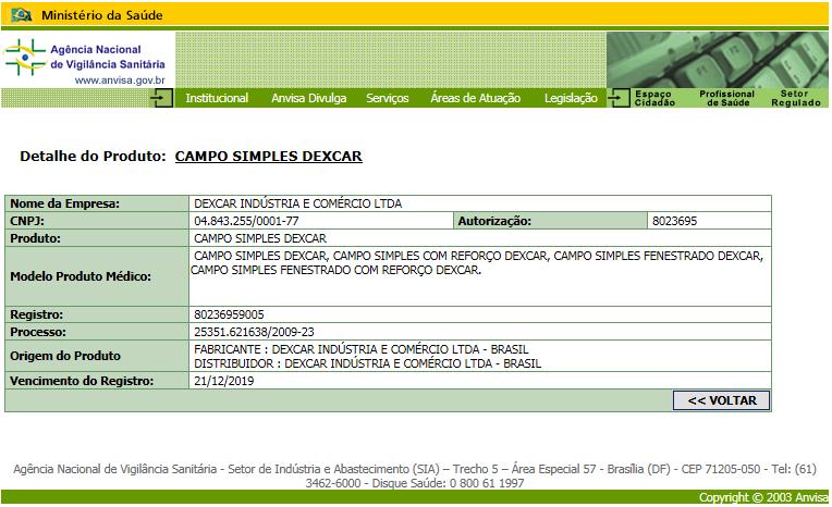 Campo Simples Dexcar
